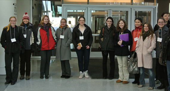 NCUWIP conference attendees at Cornell Laboratory for Accelerator Research CLASSE