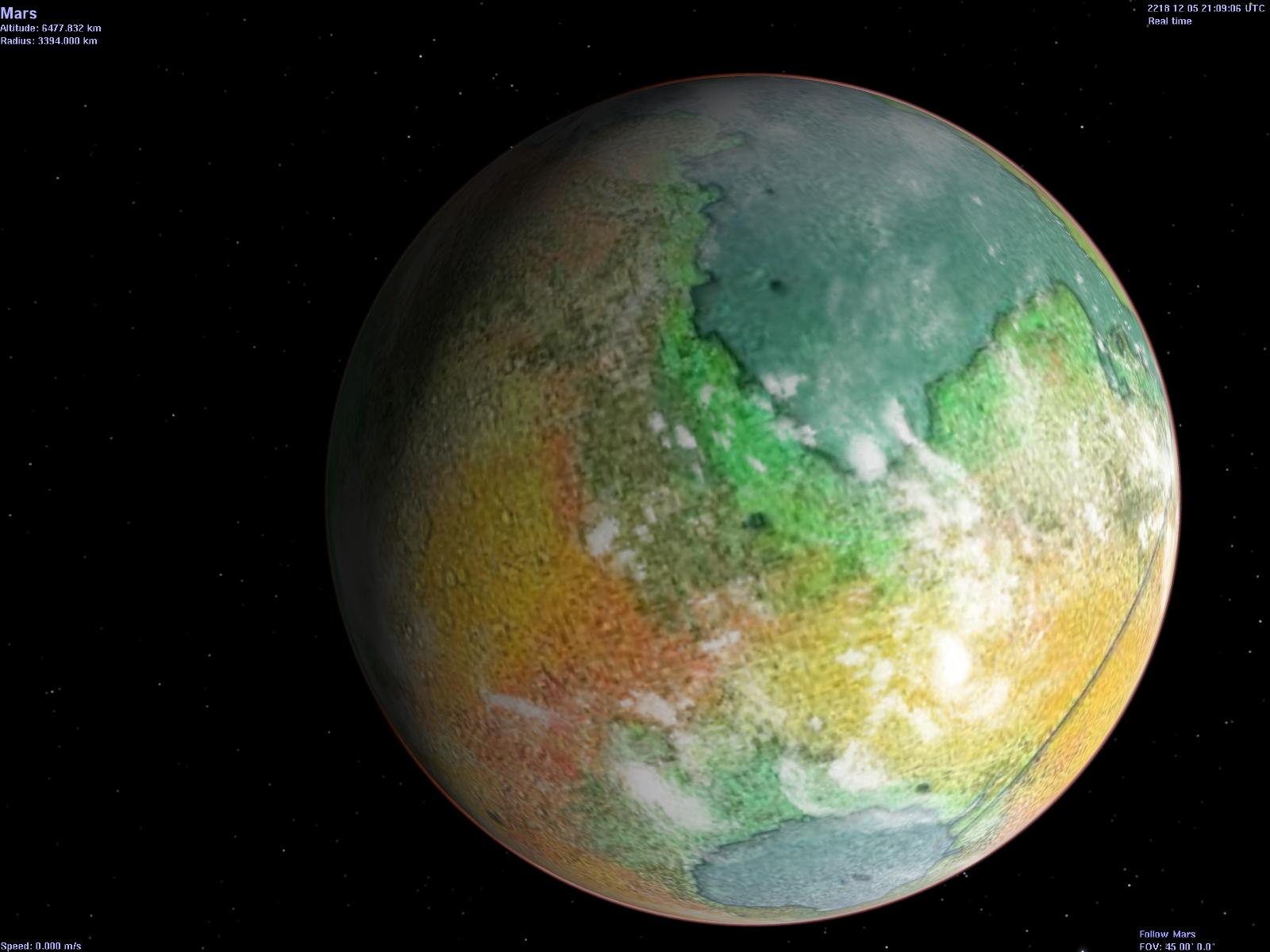Frans Blok's Map of Red, Green and Blue Mars