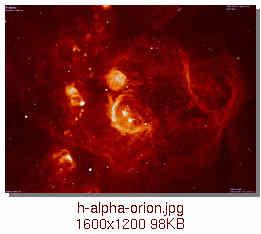 La Gallerie d'Arts [ETABLISSEMENT] H-alpha-orion