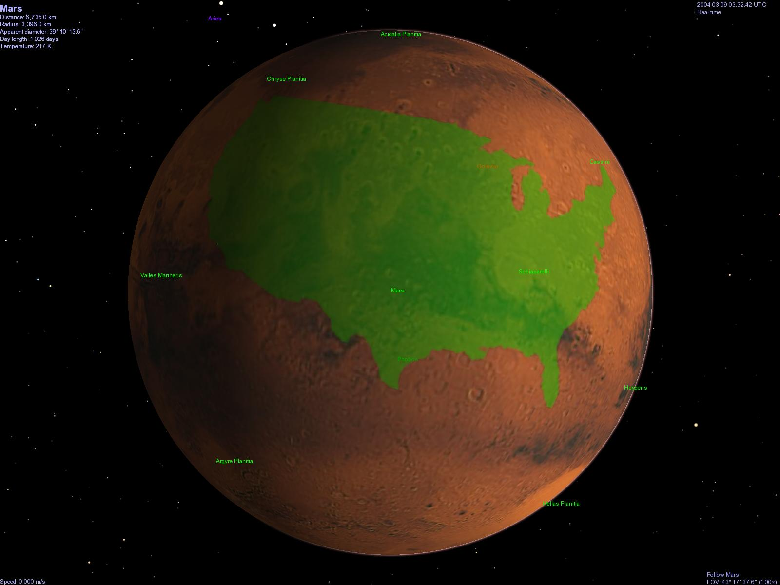 mars compared to the moon - HD 1600×1200