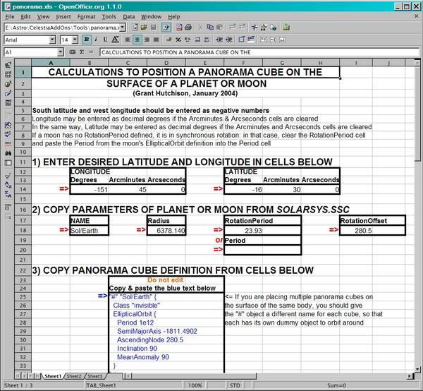 Grant Hutchison's Spreadsheets for Celestia