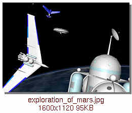 assembling the Mars expedition ships in orbit