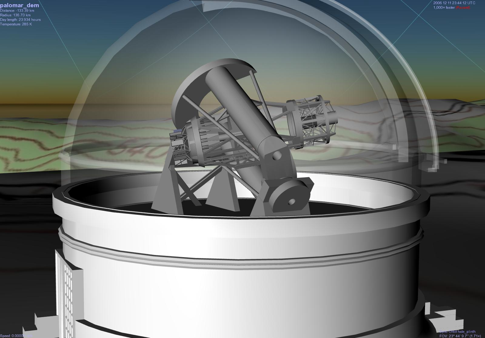 This Is Selden S Model Of The 200 Quot Hale Telescope For Celestia